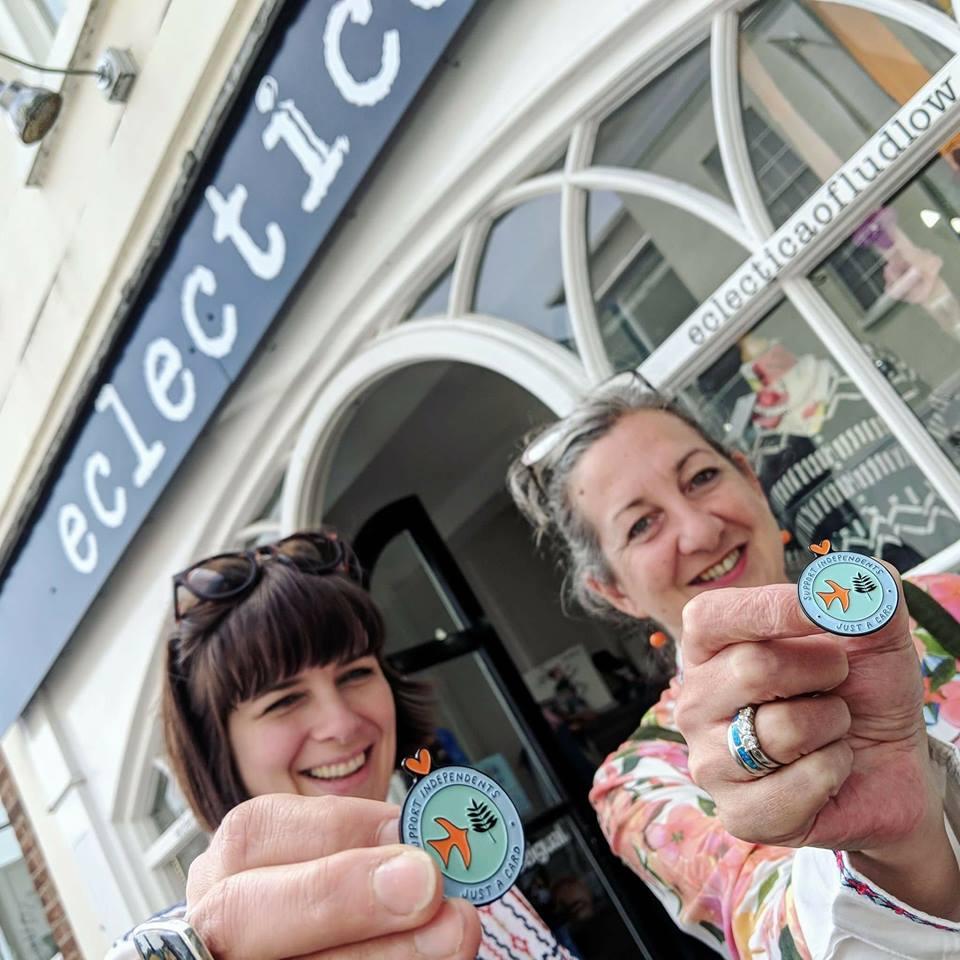 Vicki & Jodie Support Independent Shops